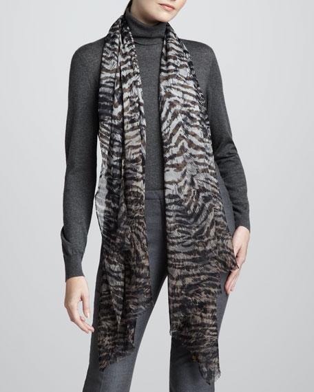 Lynx-Print Sauvage Stole