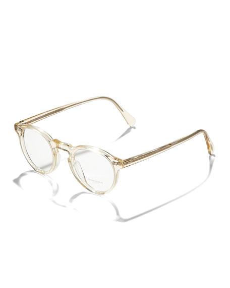 Gregory Peck Fashion Glasses, Buff