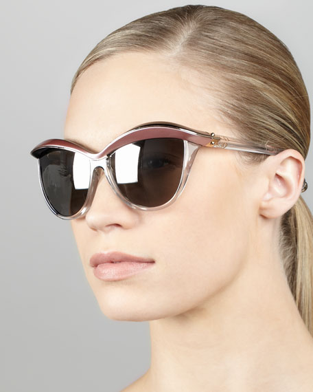 Demoiselle 1 Sunglasses, Pink/Black/Gray