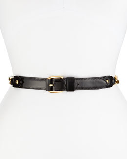 Chain and Leather Waist Belt