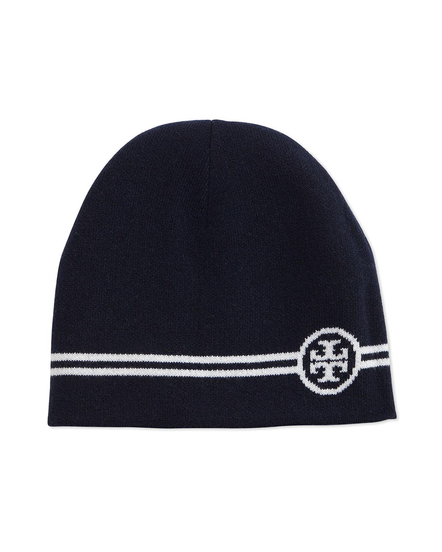 9f2850b8578 Tory Burch Reversible Wool Beanie Hat