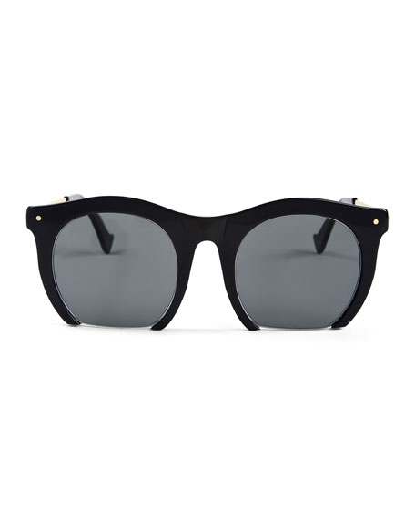 The Foundry Cutoff Sunglasses, Black