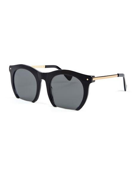 Grey Ant The Foundry Cutoff Sunglasses, Black