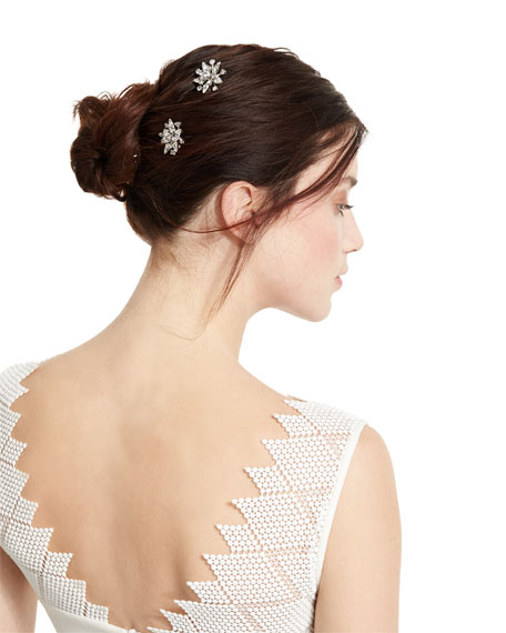 Nivita Floral Bobby Pins, Set of 2