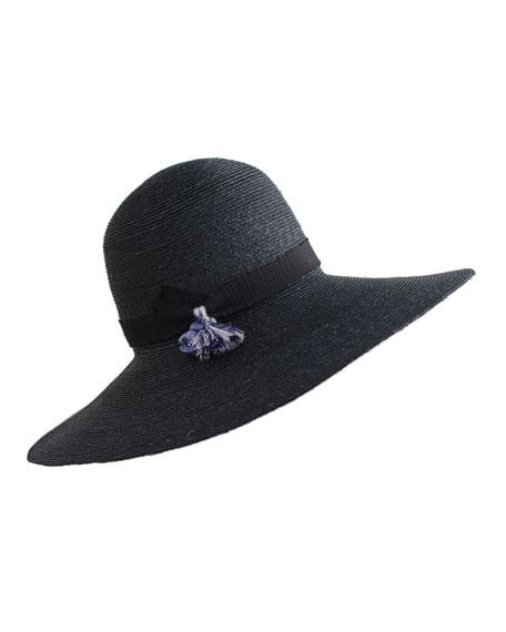Luna Wide-Brim Straw Hat