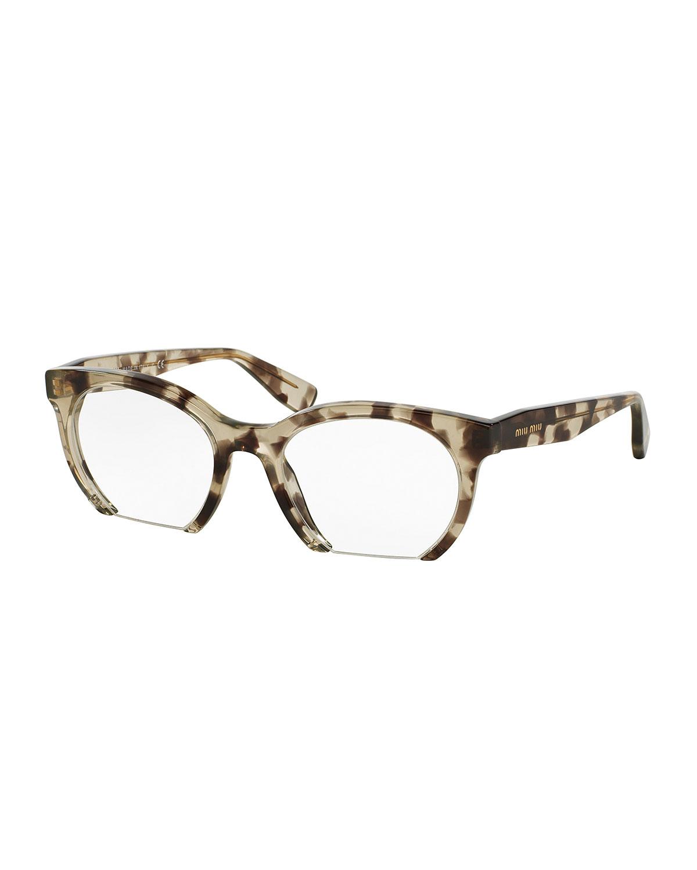 42e8c4f59e44 Miu Miu Cutoff Cat-Eye Optical Frames