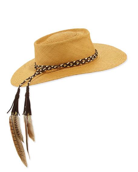 Gladys Tamez The Talitha Panama Straw Hat w/