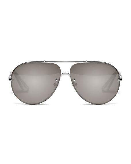 Aviator Mirror Sunglasses  elizabeth and james ryder mirrored aviator sunglasses