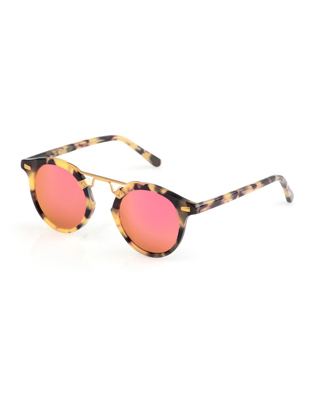 610b7886ebb KREWE St. Louis Round Mirrored Sunglasses