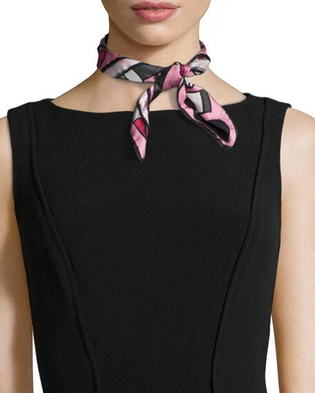 Anna Coroneo Lipstick Silk Square Scarf, Pink