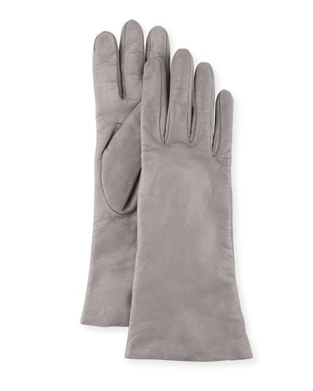 Portolano Napa Leather Gloves, Hematite