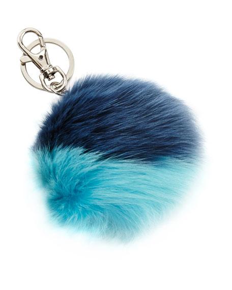 Girls' Keychain with Fur Pompom