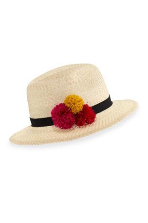 Eugenia Kim Lillian Hemp-Blend Fedora Hat, Ivory