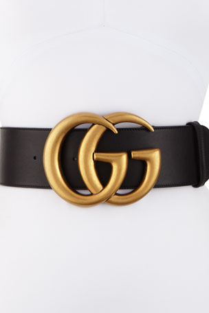 Gucci Adjustable GG Belt, Black