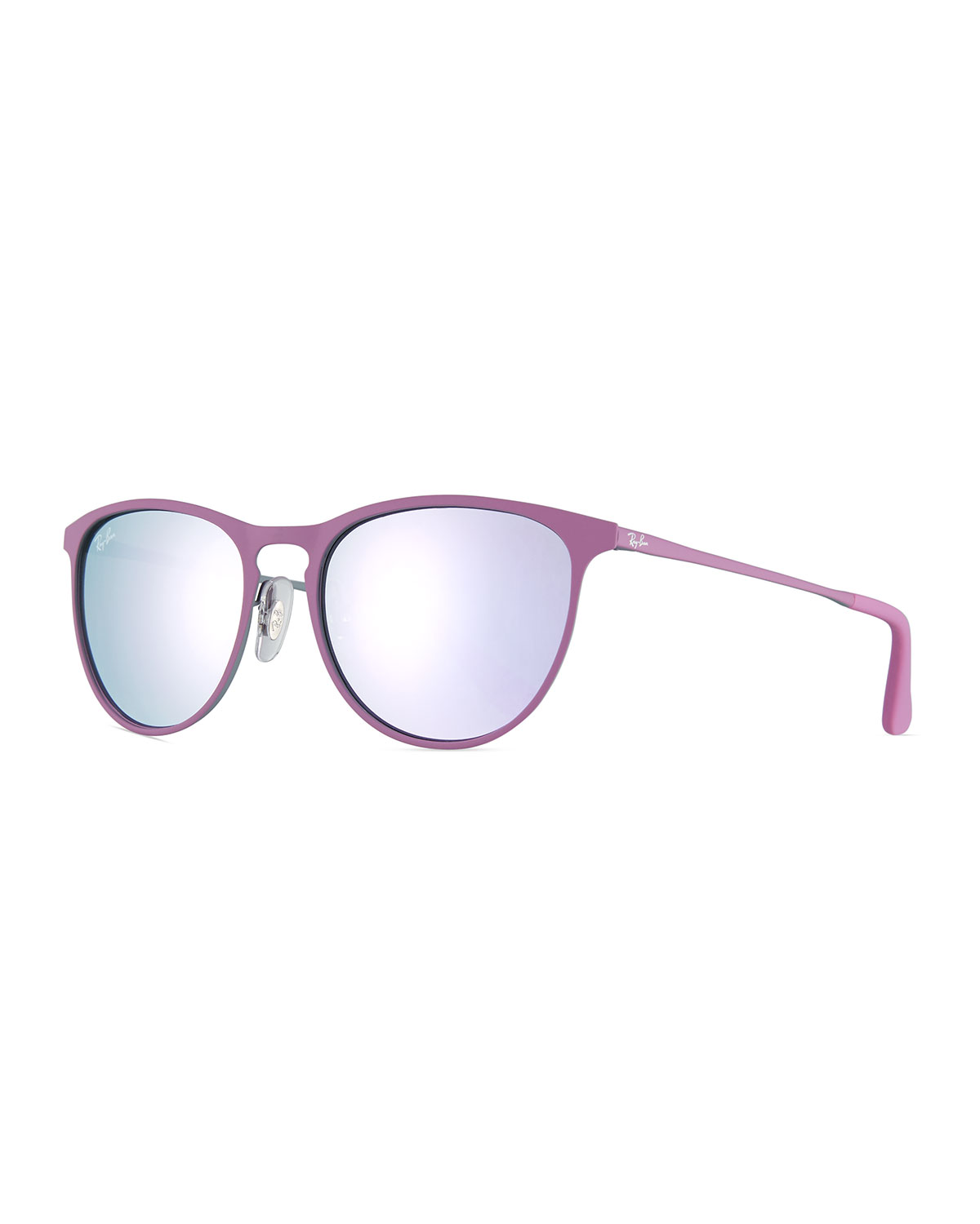 88d0f18296 Ray-Ban Junior Erika Mirrored Rounded Square Sunglasses