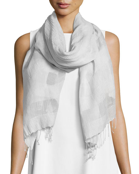 Striped Organic Cotton/Silk Wrap