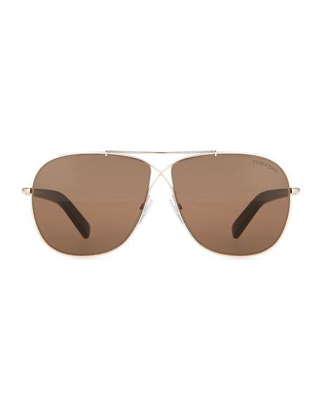 8d4f1f248a9 TOM FORD April Cross-Front Aviator Sunglasses