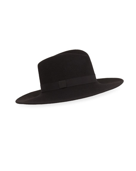 Eugenia Kim Dita Brilliant Wool Fedora, Black
