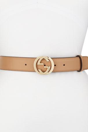 Gucci Wide GG-Buckle Belt