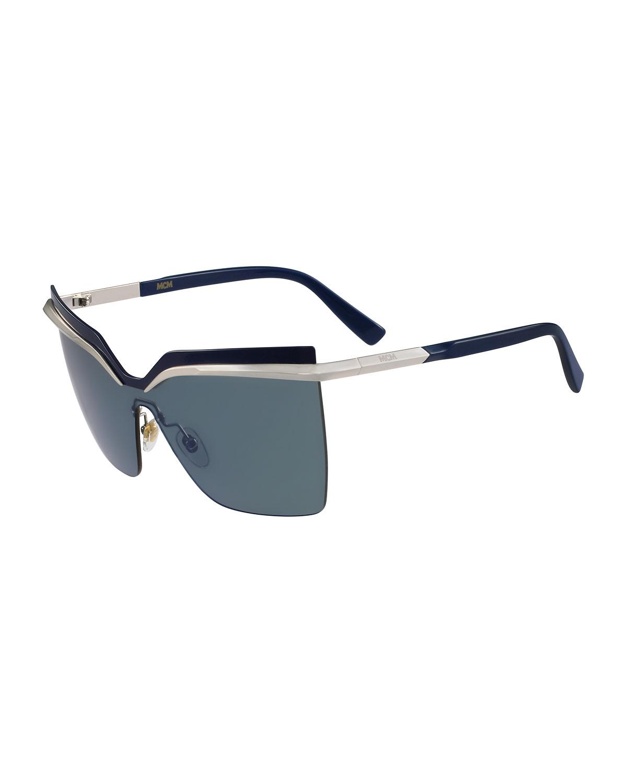 1432fdf663 MCM Rimless Shield Sunglasses