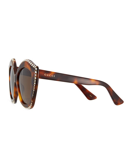 Swarovski® Squared Cat-Eye Sunglasses