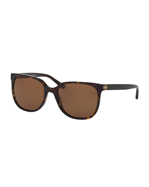 ff1bd797e02e Tory Burch Slim Square Polarized Sunglasses, Brown Tortoise | Neiman ...