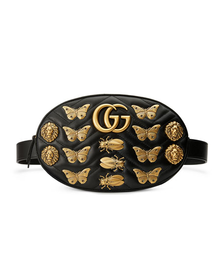 Gucci Matelassé Insects Lion Belt Bag