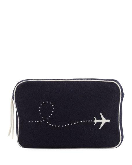 Sofia Cashmere Plane Intarsia Cashmere Travel Set
