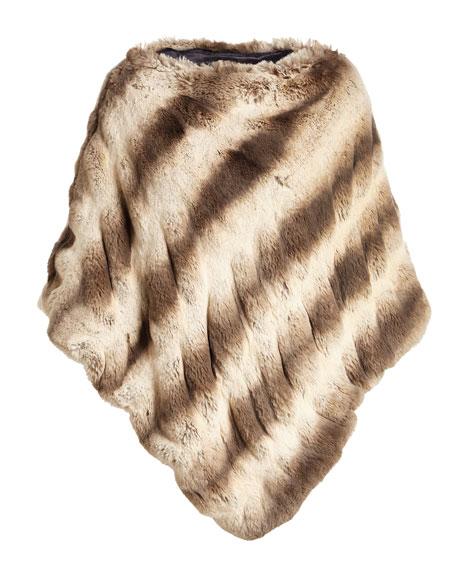 Faux-Fur Couture Poncho