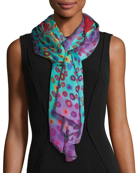 Image 1 of 2: Mila & Such Bind Me Not Silk Rectangle Scarf