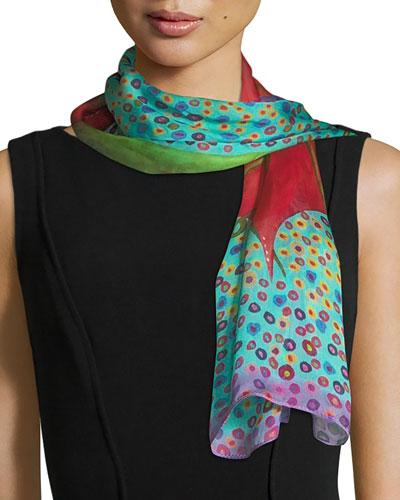 Bind Me Silk Scarf  100x50cm
