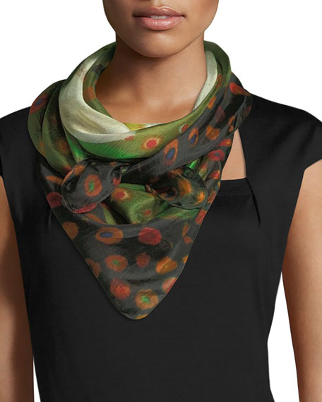 Image 3 of 3: Mila & Such Do Not Vine Square Silk Scarf, 100cm