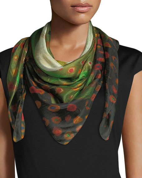 Image 1 of 3: Mila & Such Do Not Vine Square Silk Scarf, 100cm