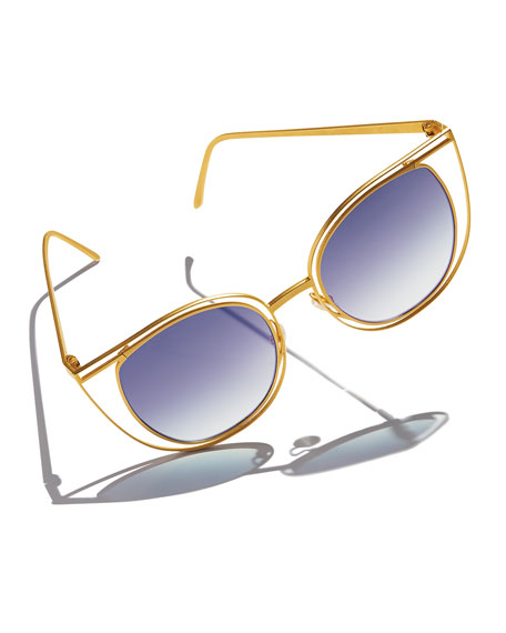Thierry Lasry Eventually Metal Cat-Eye Sunglasses