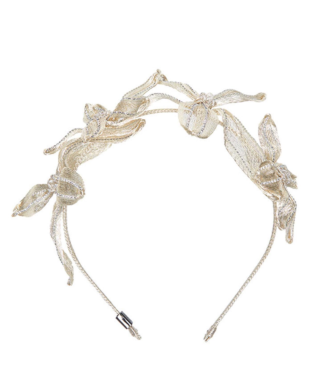 Colette Malouf Mesh Crystal Botanical Headband X7PqK