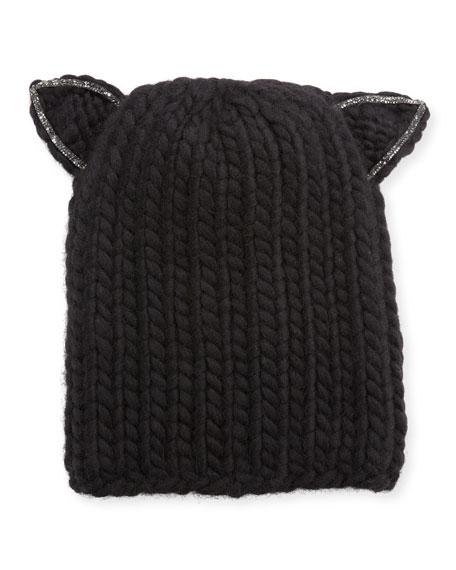 Felix Wool Skull Cap w/ Cat Ears