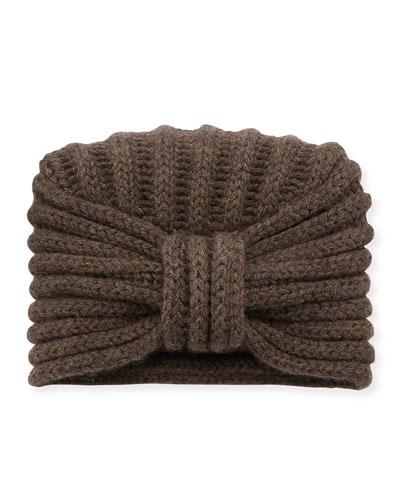 Classic Cashmere Head Turban, Brown