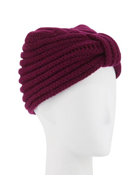 Classic Cashmere Head Turban, Purple