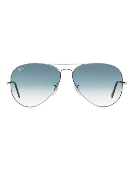 Image 2 of 2: Gradient Metal Aviator Sunglasses, Blue Pattern