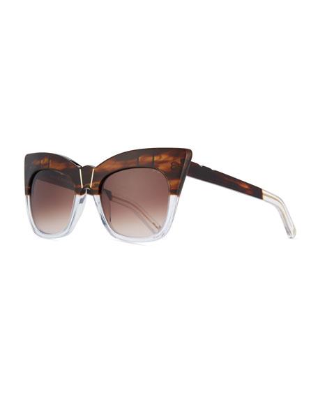 Pared Eyewear Kohl & Kaftans Two-Tone Cat-Eye Sunglasses