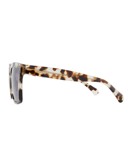 Illesteva Square Monochromatic Sunglasses