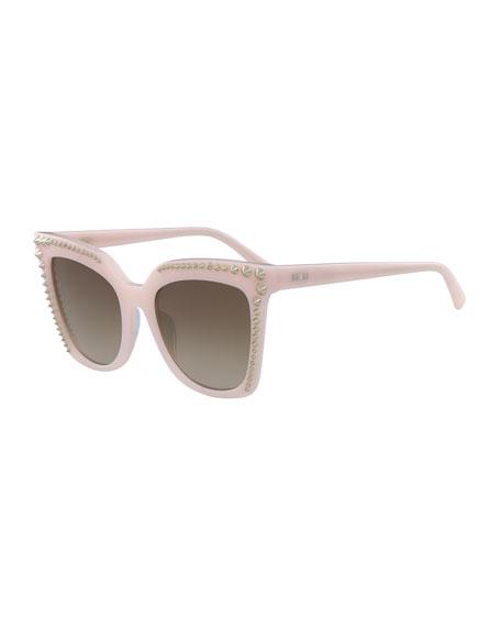 6ffabb60fa MCM Square Cat-Eye Sunglasses w  Stud Detail