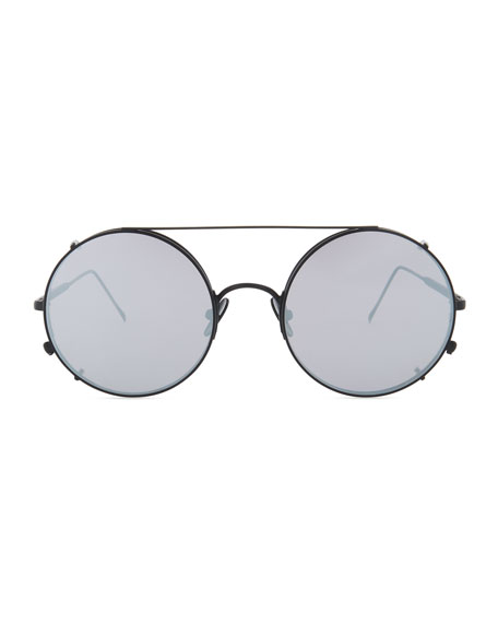 Sunday Somewhere Valentine Round Clip-On Sunglasses