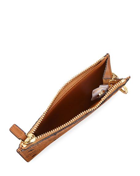 Canvas Logo Mini Key Pouch Bag