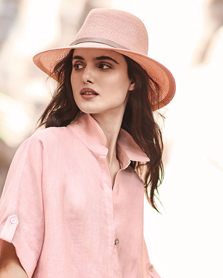 Florence Hemp-Blend Fedora w/ Leather Hat Band