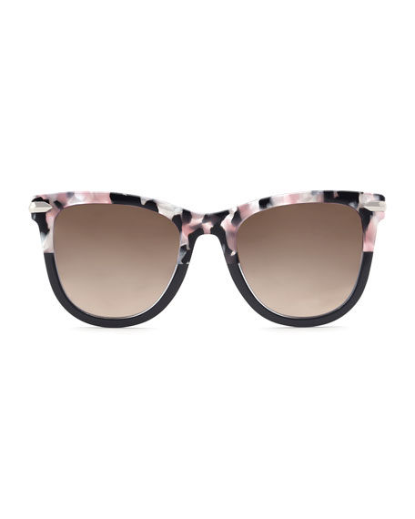 Simone Two-Tone Square Acetate Sunglasses, Galactic