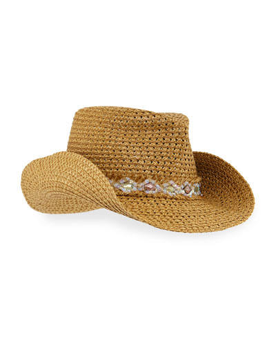 Ariela Squishee Woven Cowboy Hat
