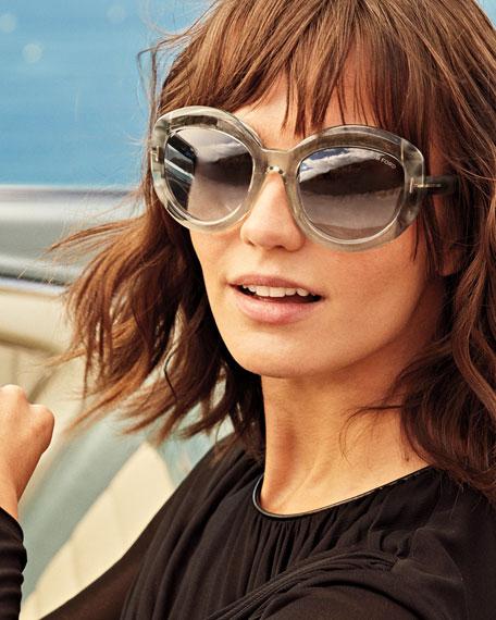 Bianca Two-Tone Acetate Gradient Sunglasses