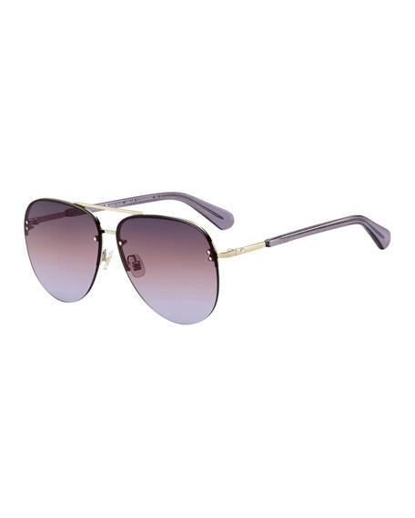 kate spade new york jakaylas mirrored aviator sunglasses
