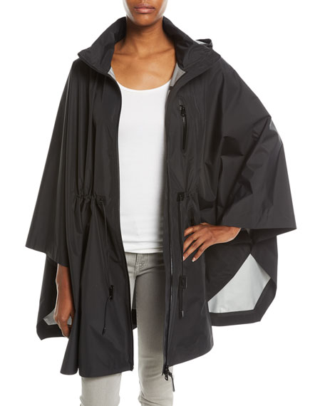 Sanna Packable Poncho Cape w/ Removable Hood